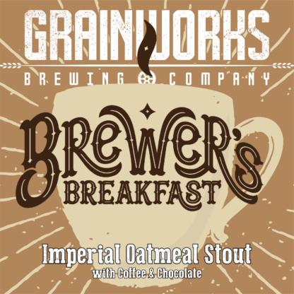 Grainworks Brewers Breakfast imperial oatmeal stout label