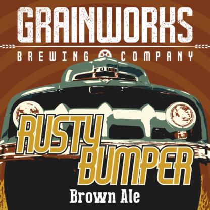 Grainworks Rusty Bumper brown ale label