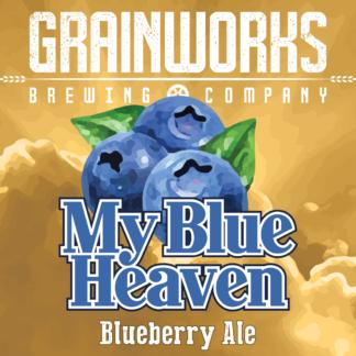 Grainworks My Blue Heaven blueberry ale label
