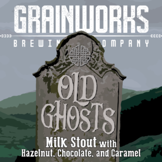 Grainworks Old Ghosts hazelnut chocolate stout label