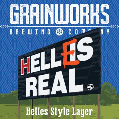 Grainworks Helles Real lager label