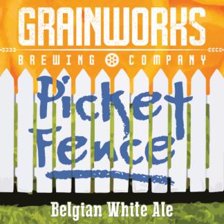 Grainworks Picket Fence Belgian white ale label
