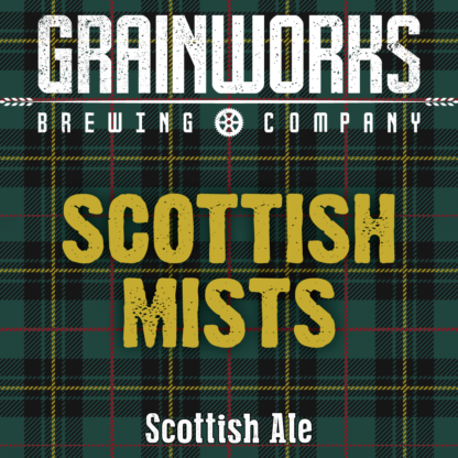 Grainworks Scottish Mists ale label